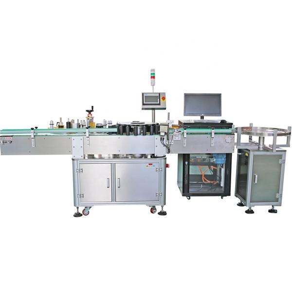 Machine d'étiquetage rotative de conteneurs pointés par bouteilles coniques faites sur commande automatisées