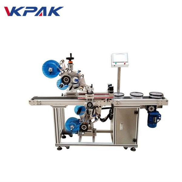 Machine de collage automatique d'étiquettes adhésives supérieures et inférieures